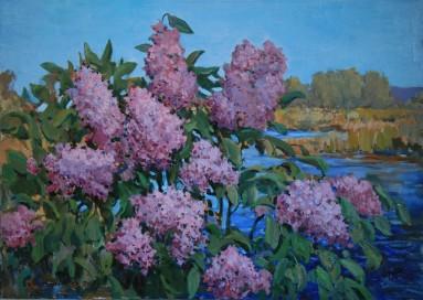 Lilac 50х70 p.o. 2016